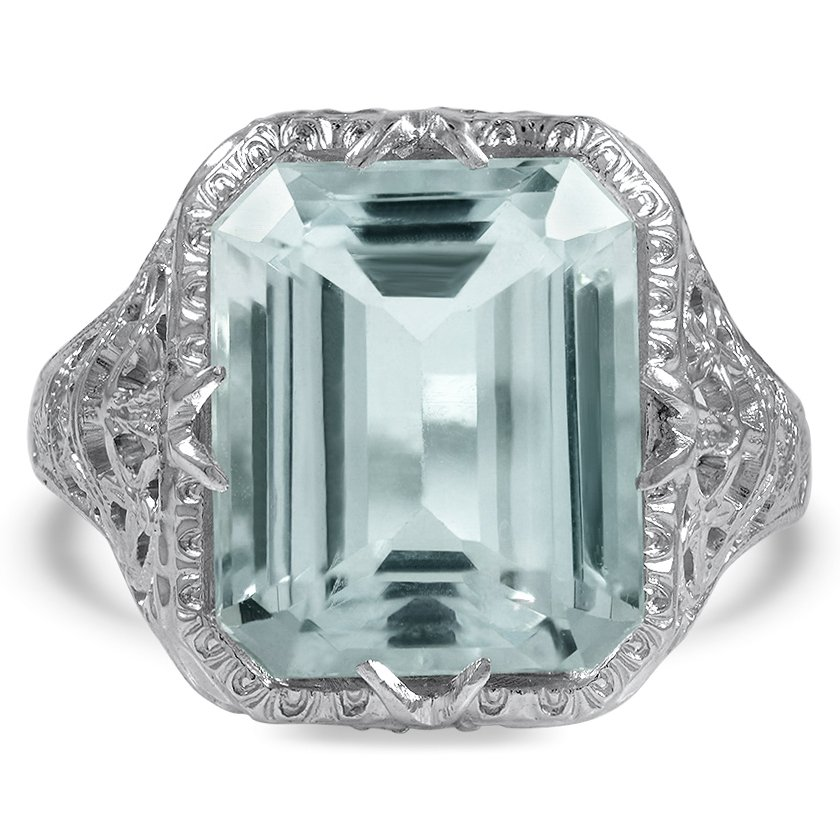 Edwardian Aquamarine Cocktail Ring