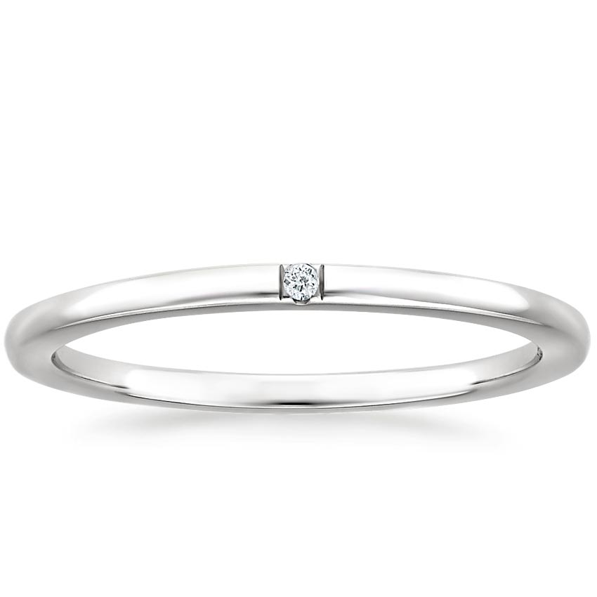 Rae Diamond Ring in 18K White Gold