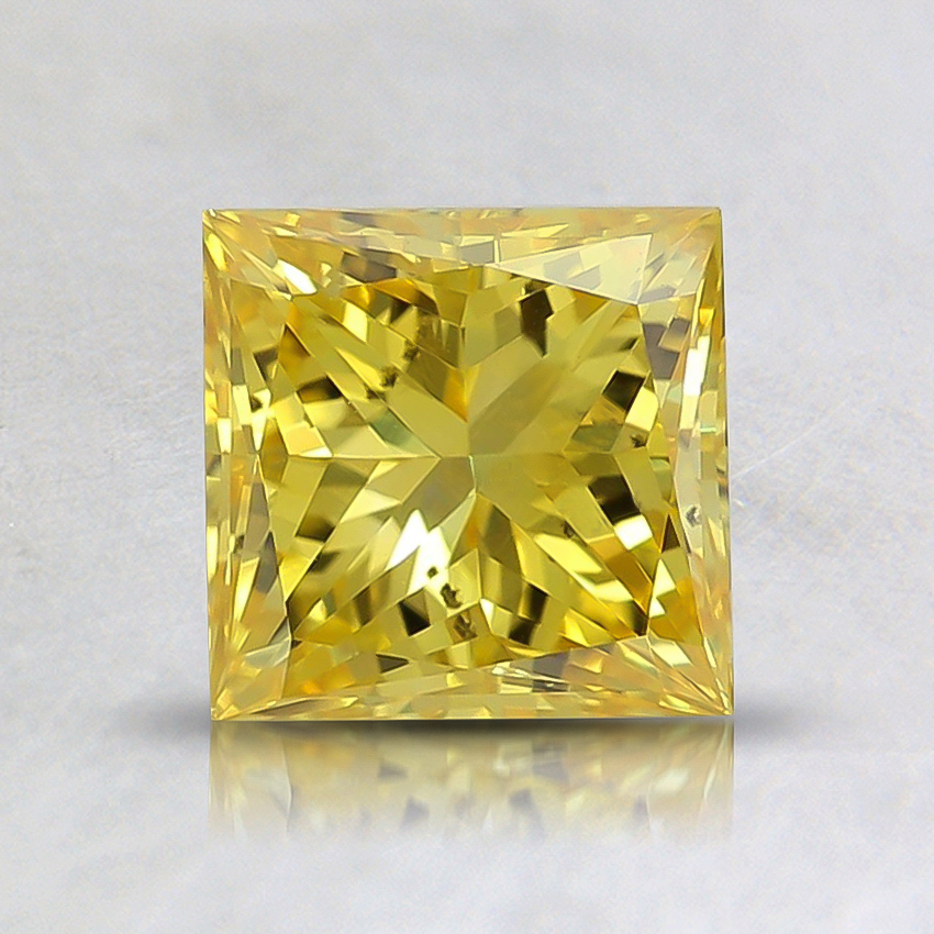 1.12 Ct. Fancy Vivid Orangy Yellow Princess Lab Created Diamond