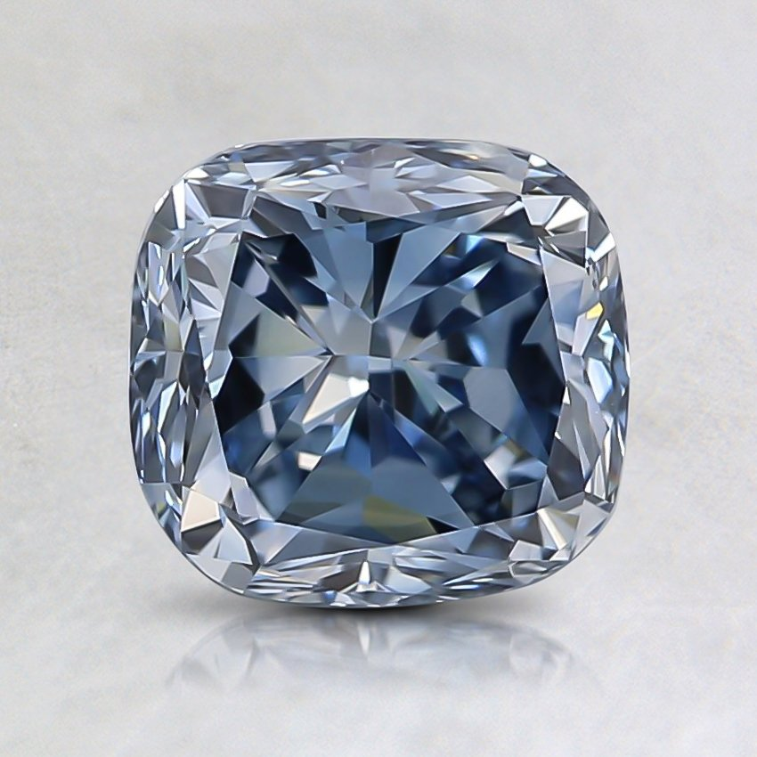 1.53 Ct. Fancy Blue Cushion Lab Created Diamond
