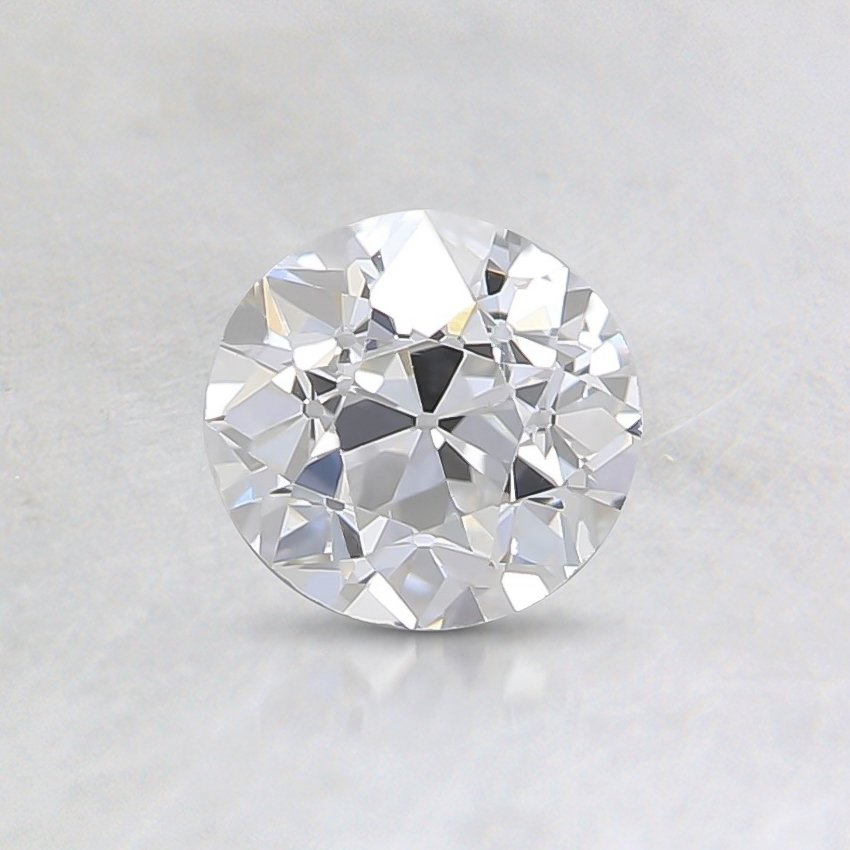 0.59 Ct., E Color, VS1, Old European Cut Diamond