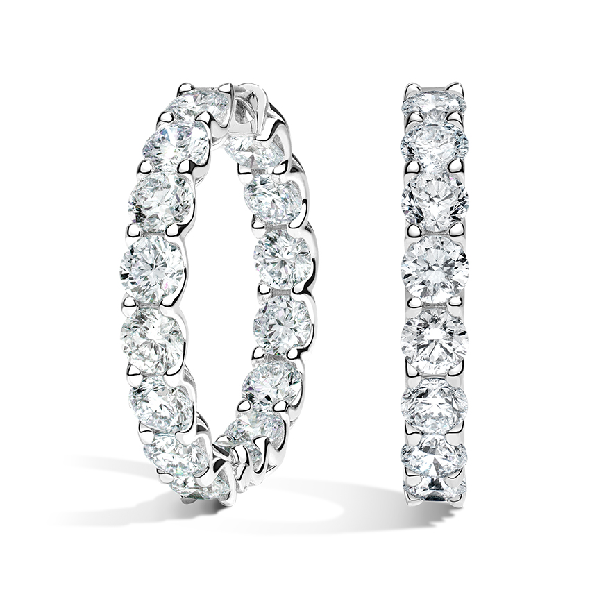 Luxe Diamond Hoop Earrings
