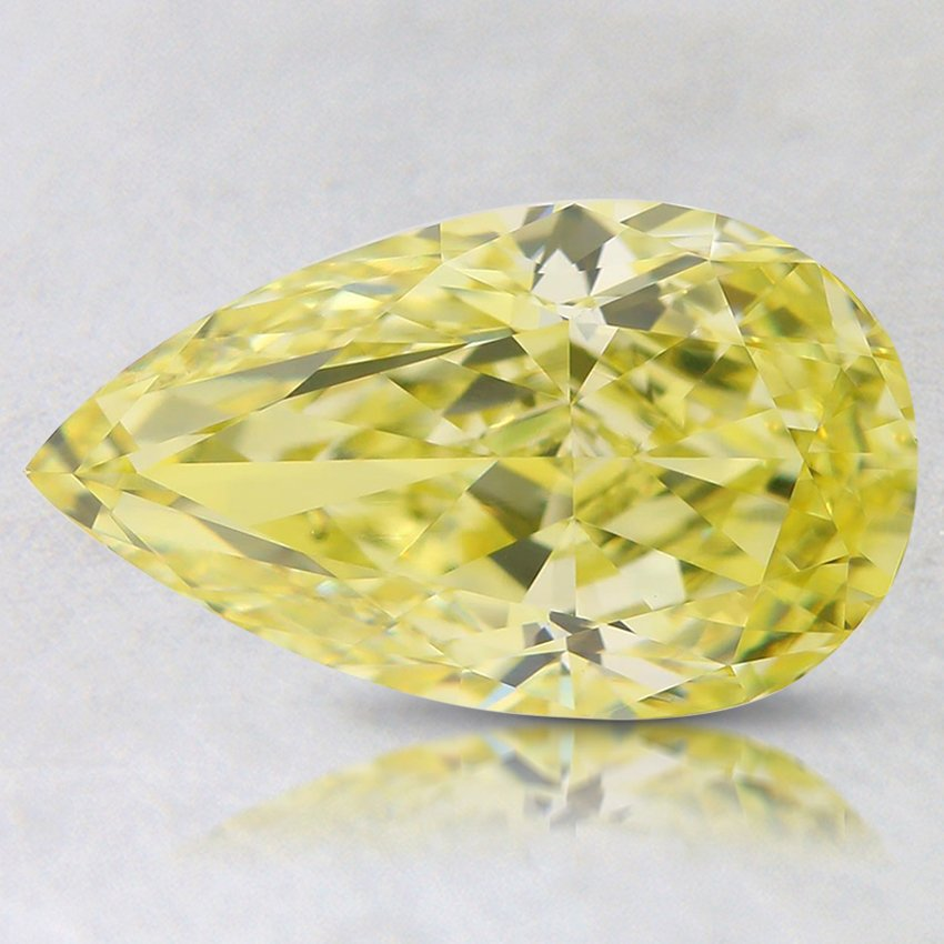 2.00 Ct. Natural Fancy Yellow Pear Diamond