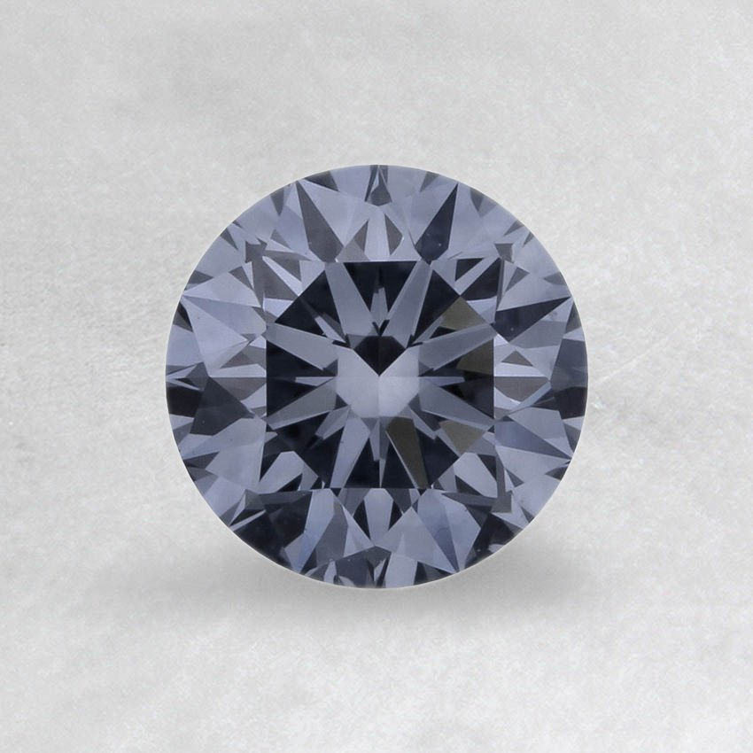 0.33 ct. Lab Created Fancy Intense Blue Round Diamond, top view