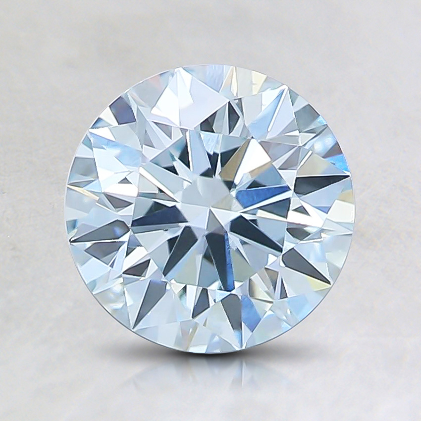 0.75 Ct. Fancy Greenish Blue Round Lab Created Diamond