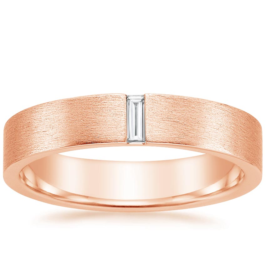 Rose Gold Apollo Diamond Wedding Ring