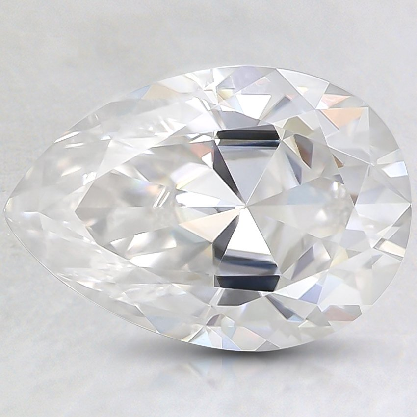 10.1x7.1mm Super Premium Pear Moissanite