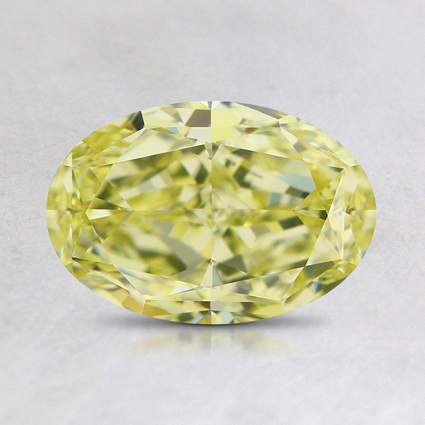 1.22 Ct. Natural Fancy Yellow Oval Diamond, top view