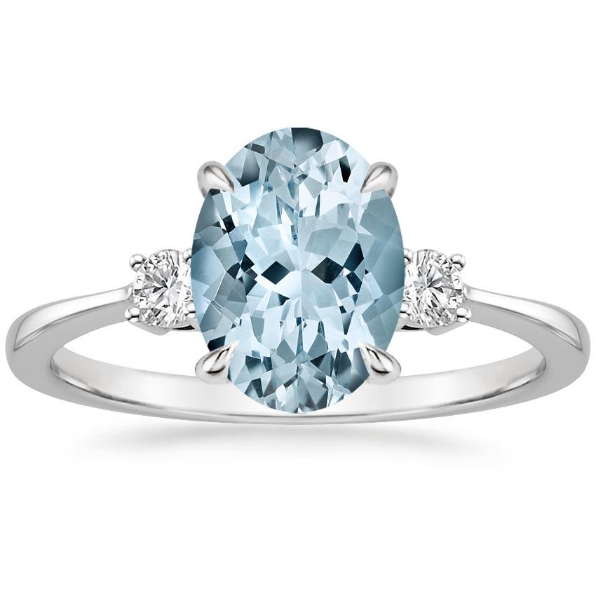 Aquamarine Selene Ring