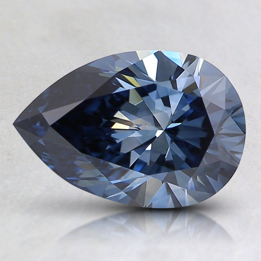 1.33 Ct. Fancy Deep Blue Pear Lab Created Diamond