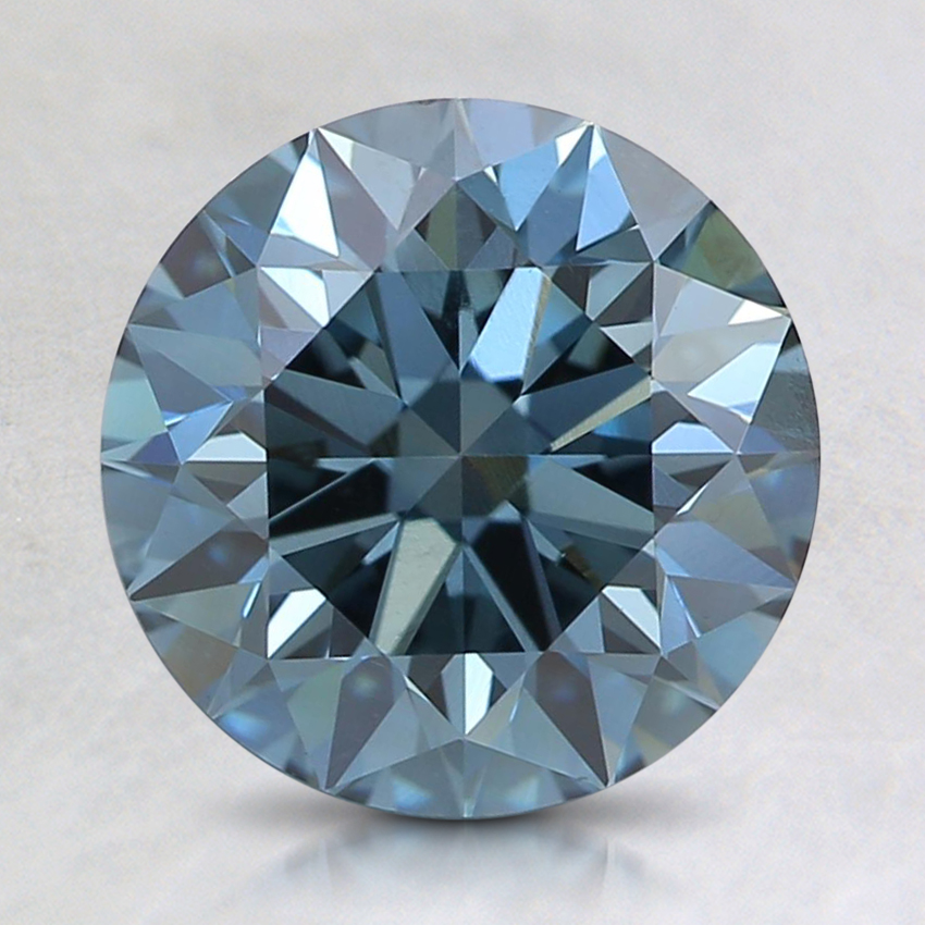 2.01 Ct. Fancy Deep Blue Round Lab Created Diamond