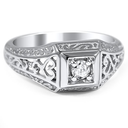 Art Nouveau Diamond Vintage Ring
