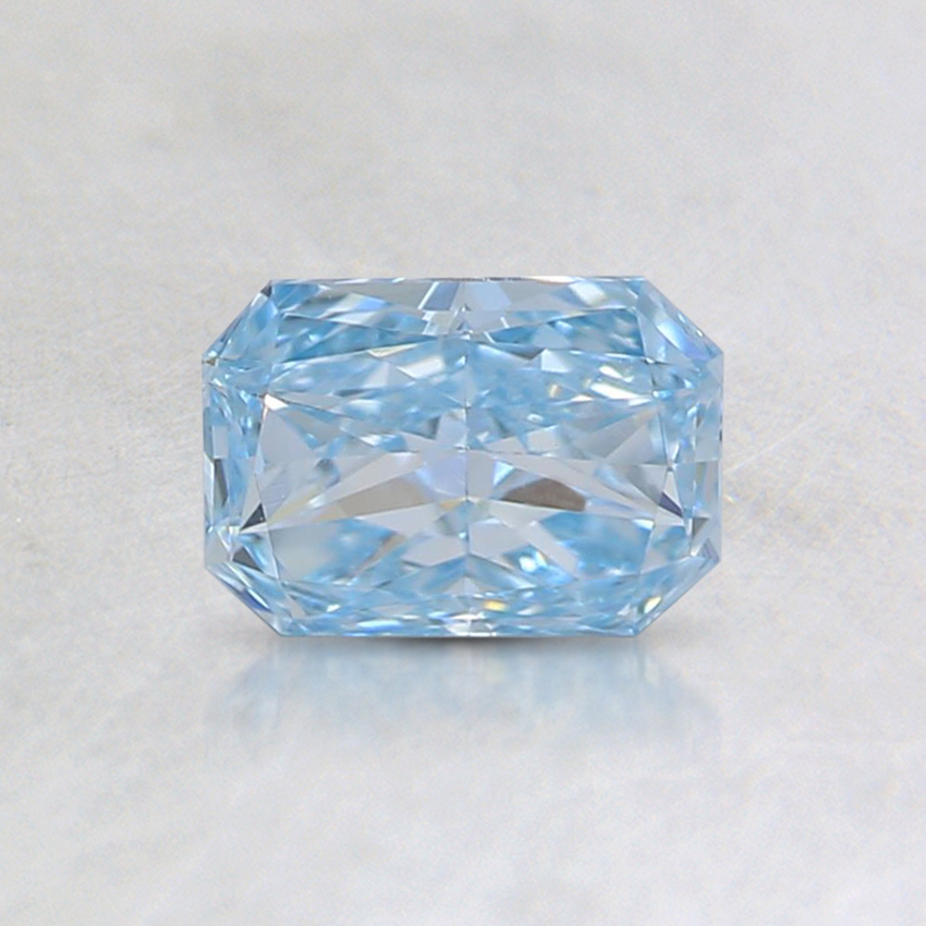 0.53 Ct. Fancy Greenish Blue Radiant Lab Created Diamond