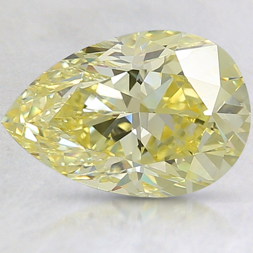 3.04 Ct. Fancy Intense Yellow Pear Lab Created Diamond