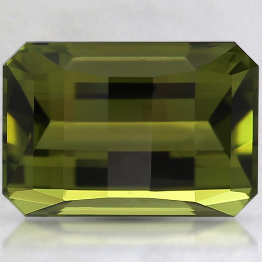 10.2x7.1mm Unheated Green Modified Emerald Tourmaline