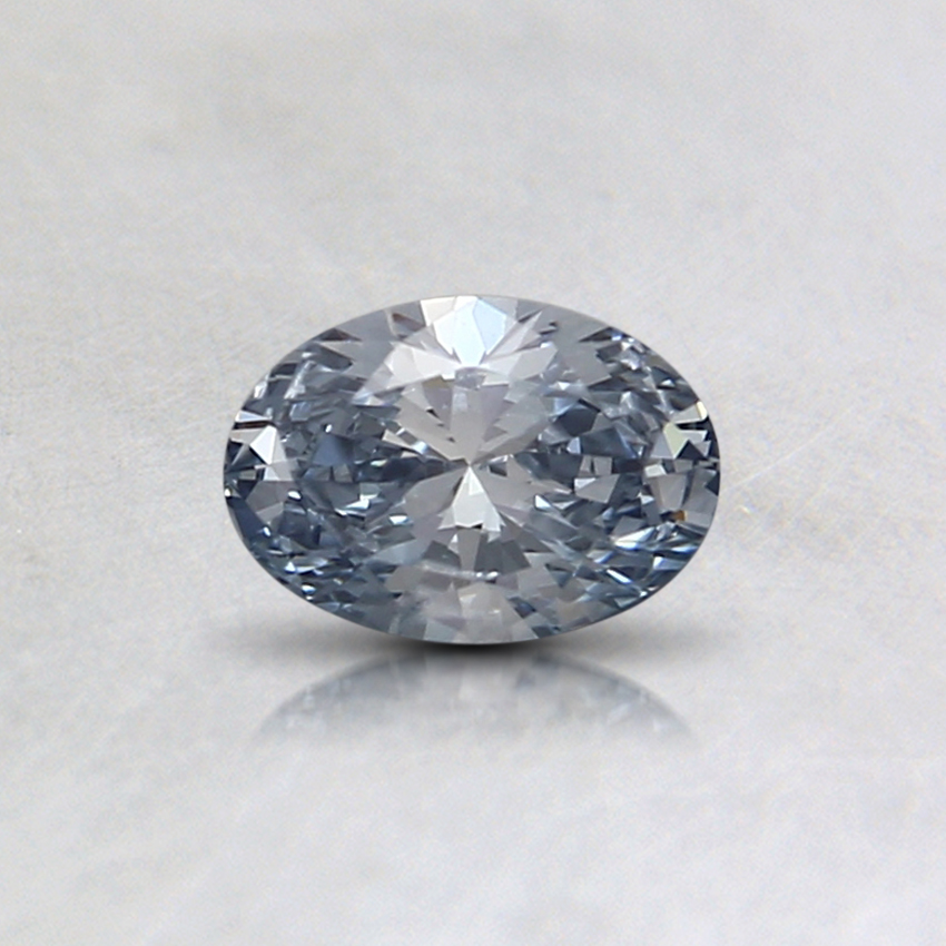 0.31 Ct. Fancy Light Blue Oval Lab Created Diamond