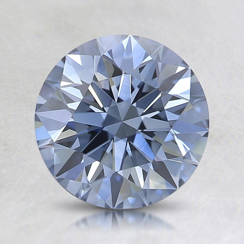 1.41 Ct. Lab Created Fancy Intense Blue Round Diamond