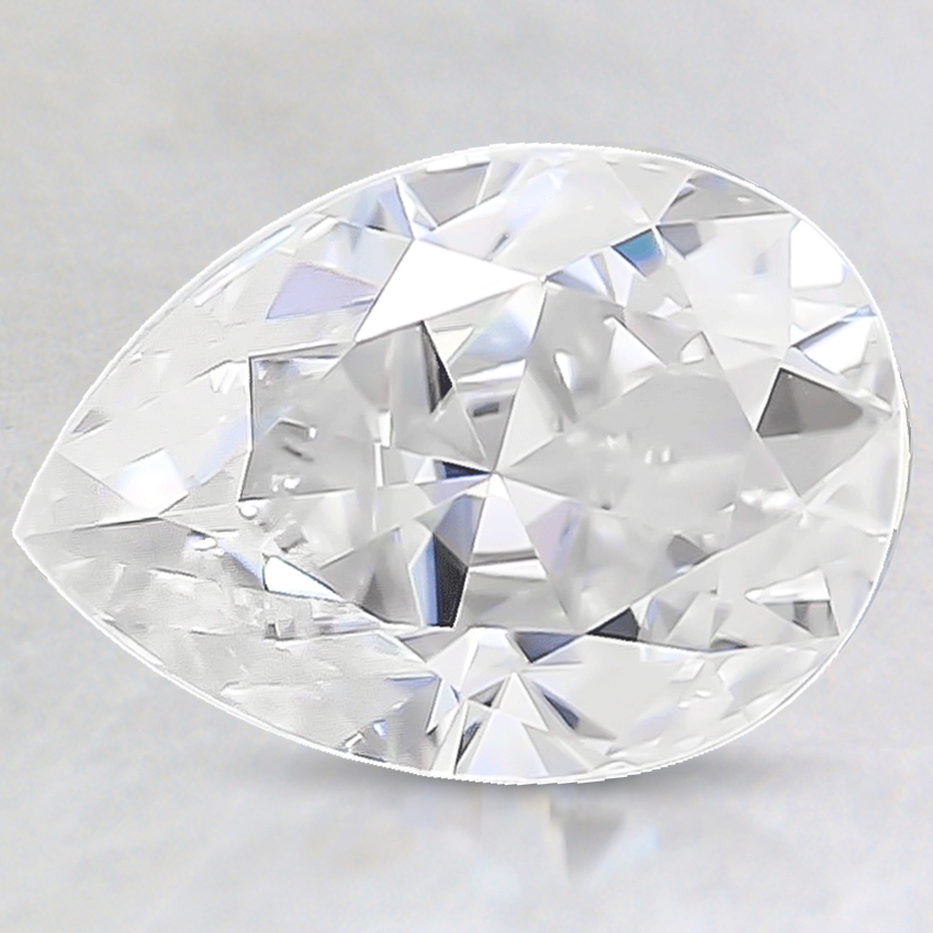 10x7mm Super Premium Pear Moissanite