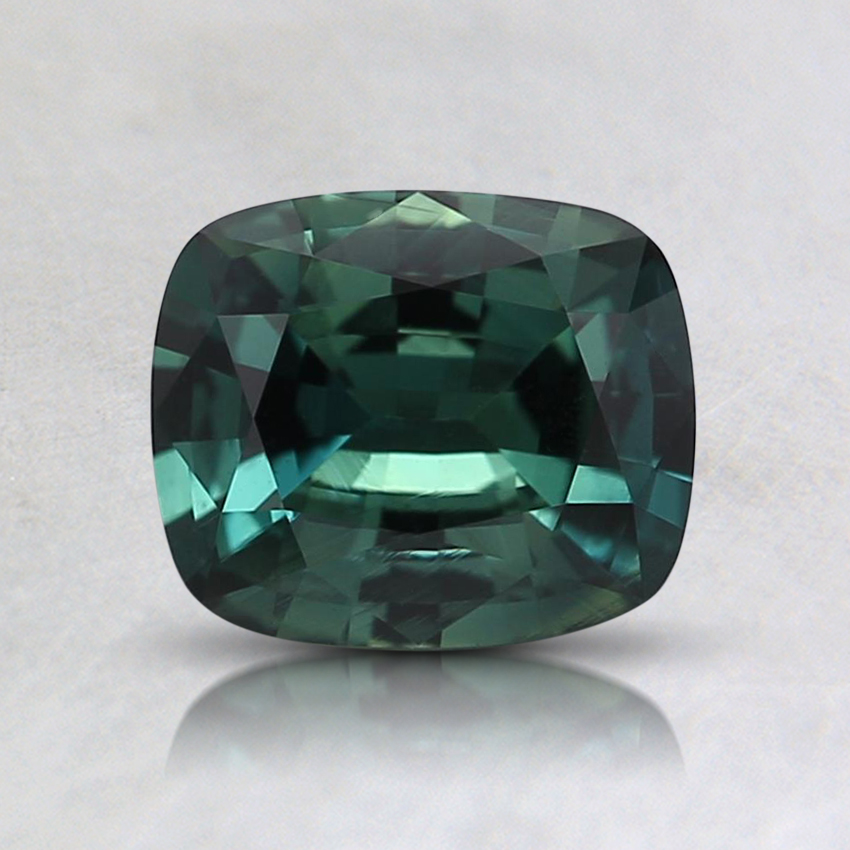 6.5x5.5mm Unheated Teal Cushion Sapphire