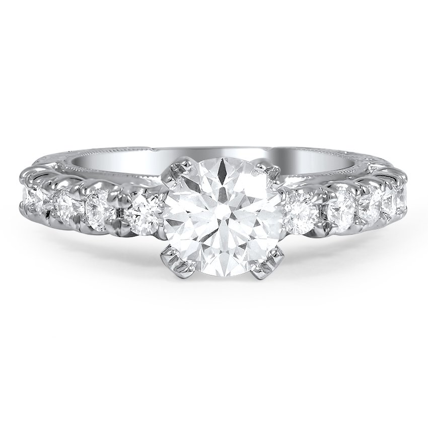 Custom Heirloom Inspired Diamond Engagement Ring