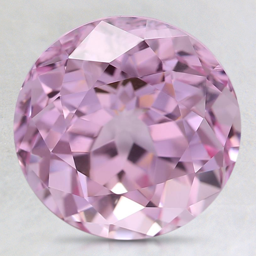 9mm Lab Created Light Pink Round Lab Created Sapphire