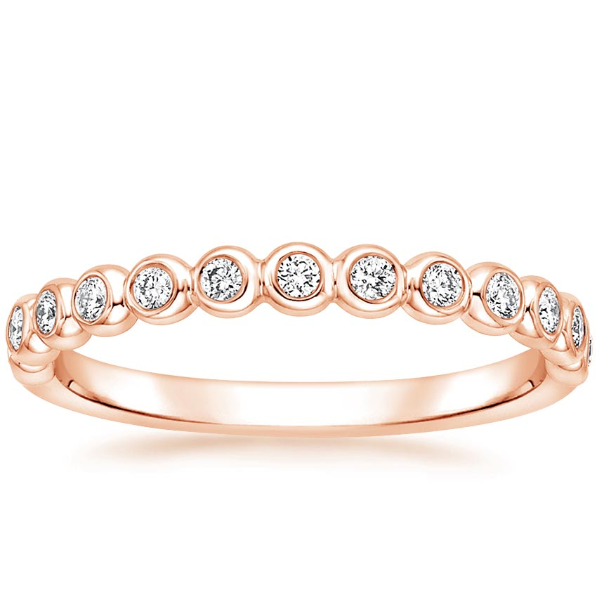 Rose Gold Bezel Diamond Ring