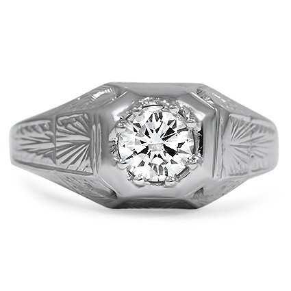 The Modesta Ring, top view