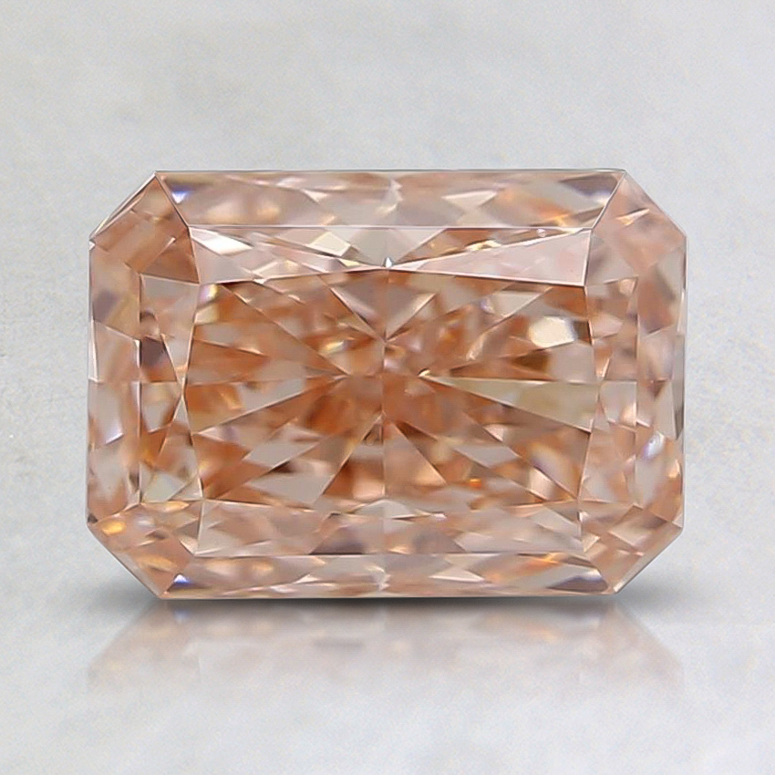 1.01 Ct. Fancy Pinkish Orange Radiant Lab Created Diamond