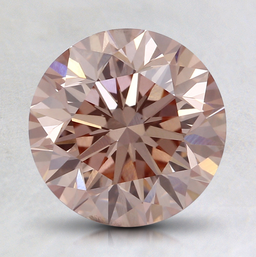 2.01 Ct. Fancy Light Orangy Pink Round Lab Created Diamond