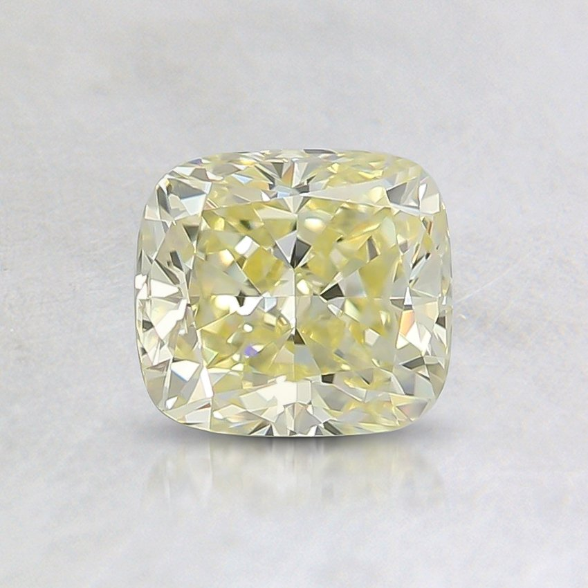 0.73 Ct. Fancy Light Yellow Cushion Diamond