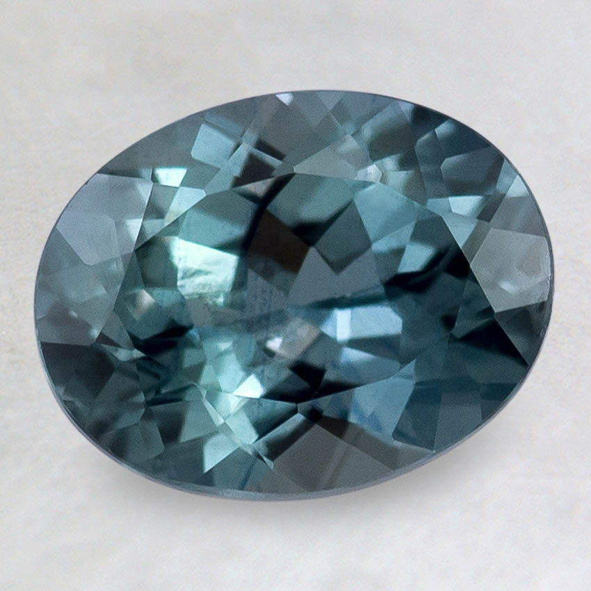 9x7mm Premium Malawi Teal Oval Sapphire, top view