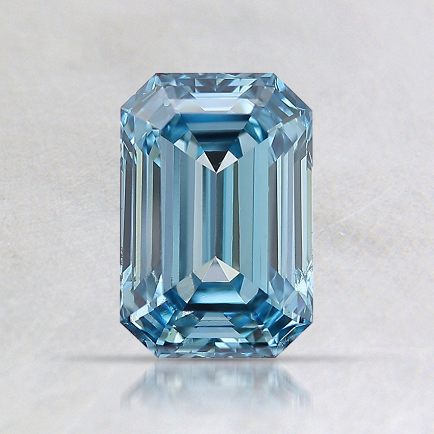 1.01 Ct. Fancy Blue Emerald Lab Created Diamond