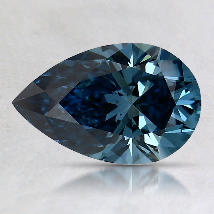 1.11 Ct. Fancy Vivid Blue Pear Lab Created Diamond