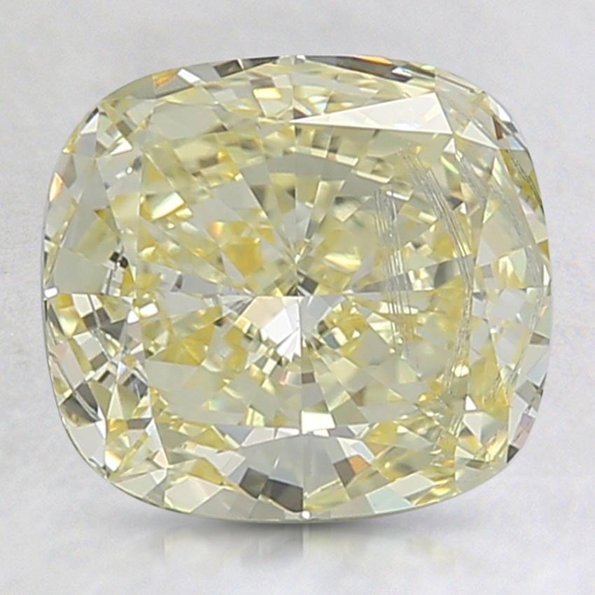 2.22 Ct. Fancy Intense Yellow Cushion Lab Created Diamond