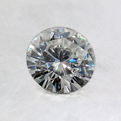 6.0mm Round Moissanite, top view