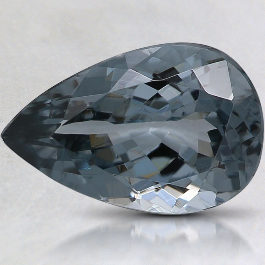 11x7.2mm Gray Pear Spinel