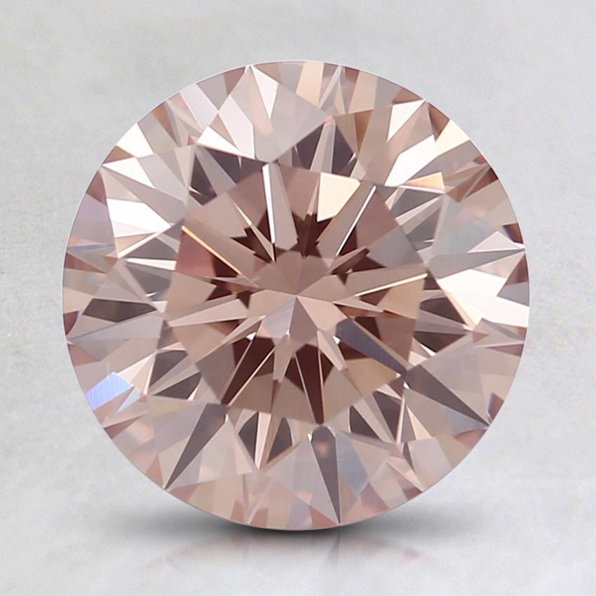 1.97 Ct. Fancy Pink-Brown Round Lab Created Diamond