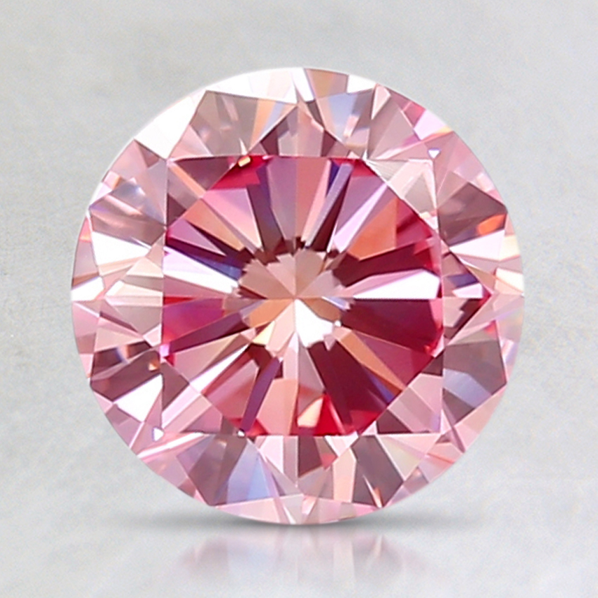1.88 Ct. Fancy Purplish Pink Round Lab Created Diamond