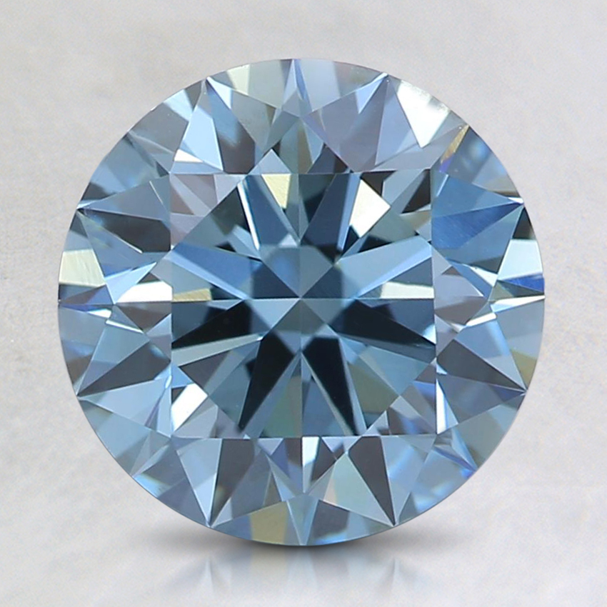 2.05 Ct. Fancy Deep Blue Round Lab Created Diamond