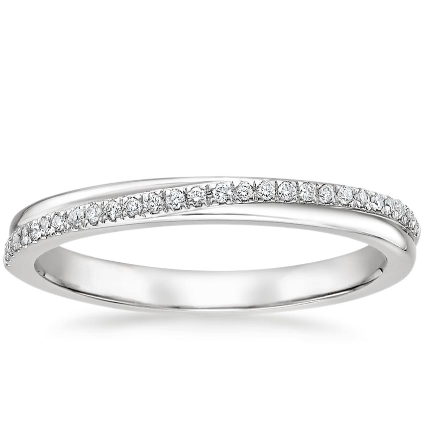 Twisting Diamond Wedding Ring