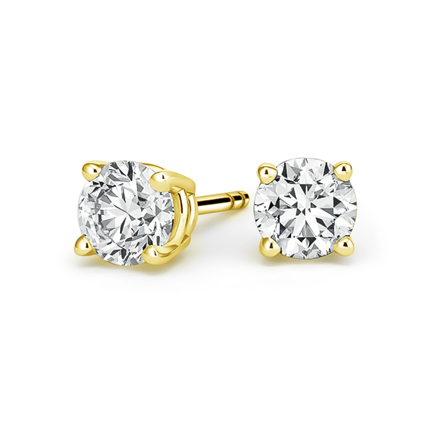 Round Diamond Stud Earrings (3 ct. tw.) in 18K Yellow Gold
