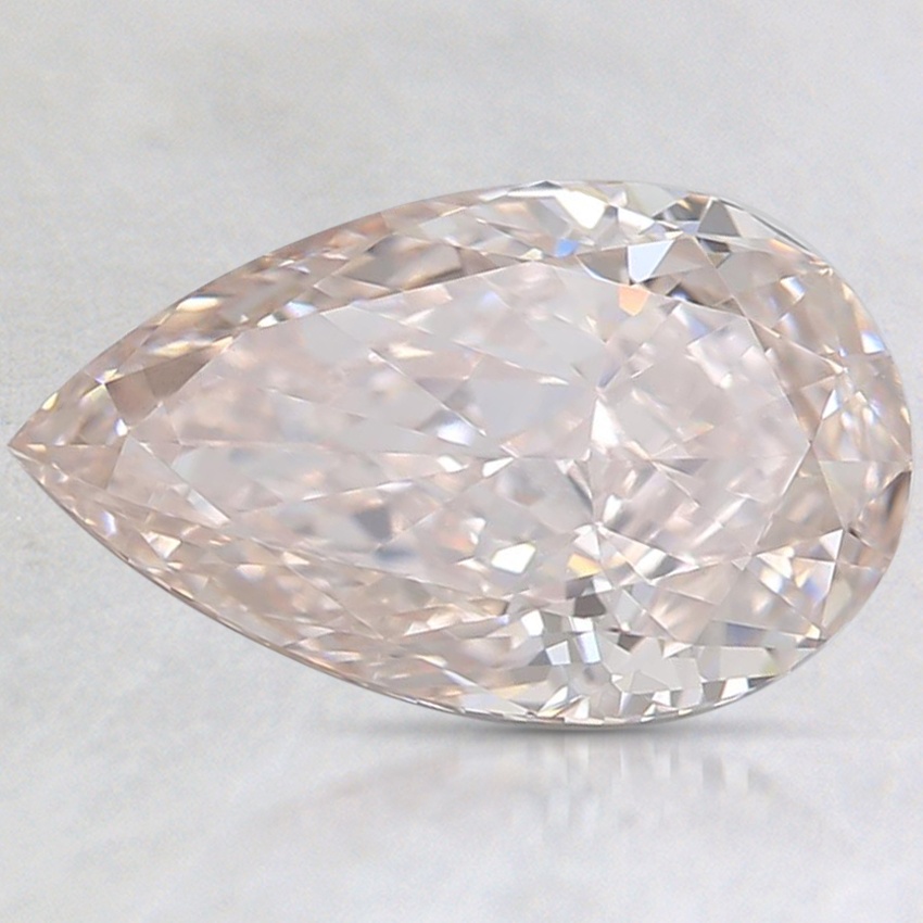 1.66 Ct. Light Brown-Pink Pear Diamond