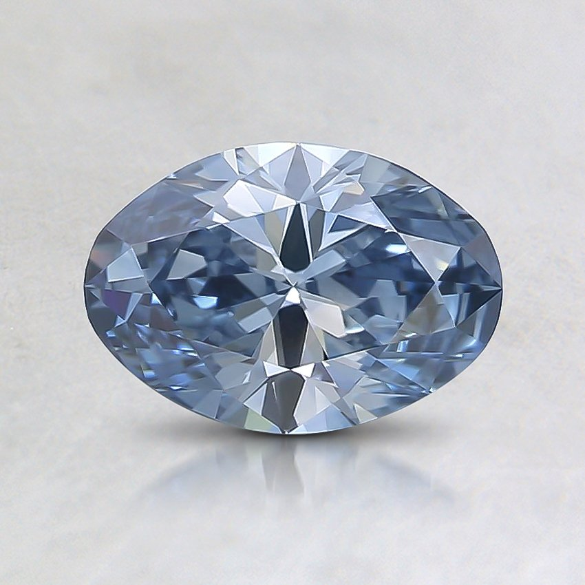 0.76 Ct. Fancy Blue Oval Lab Created Diamond