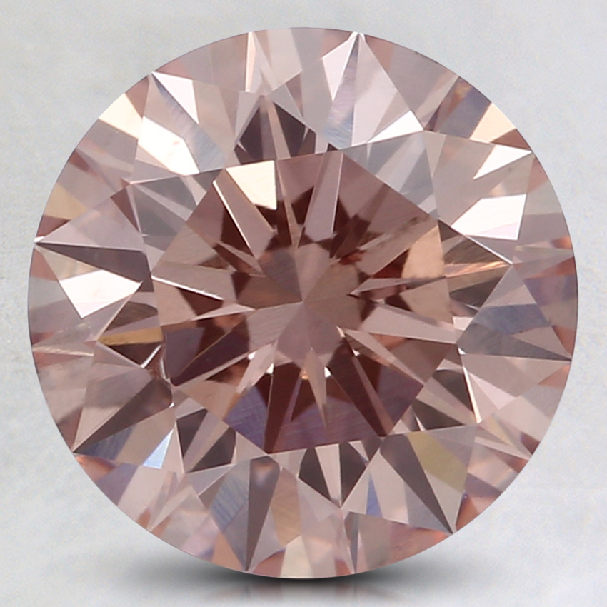 2.03 Ct. Fancy Light Pink Round Lab Created Diamond