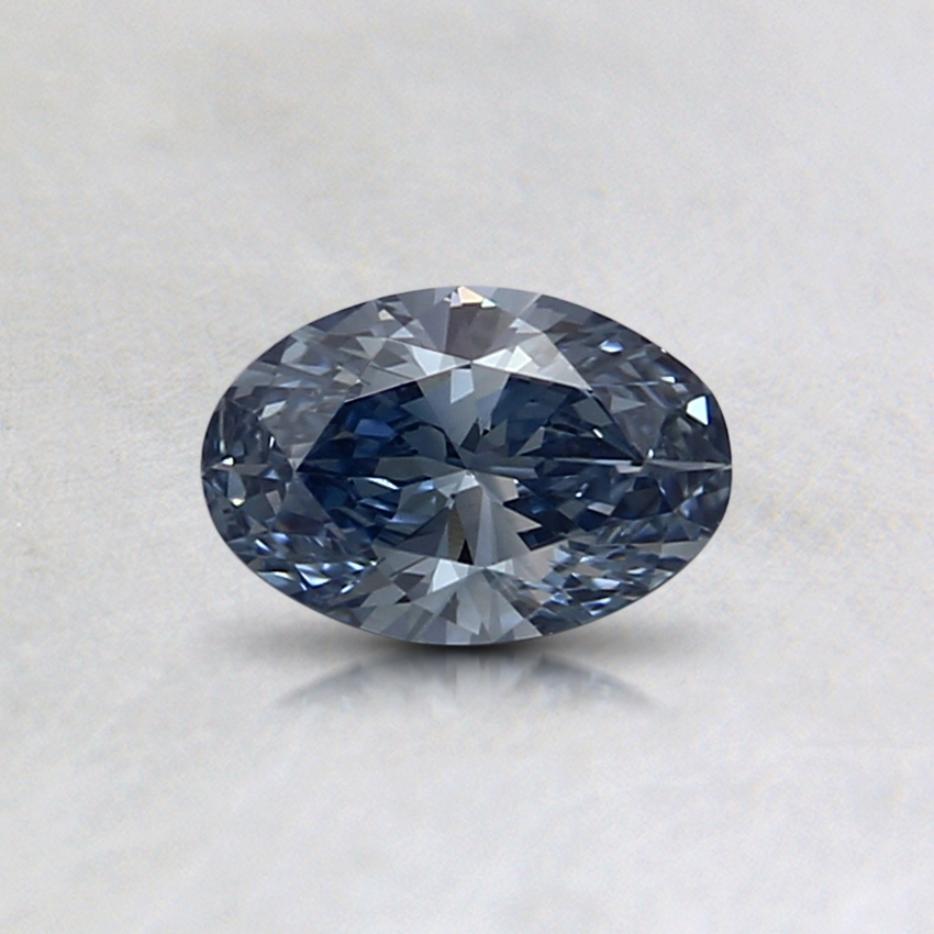 0.33 Ct. Fancy Blue Oval Lab Created Diamond