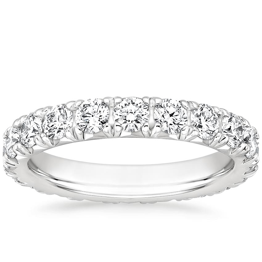 French Pavé Eternity Diamond Ring (2 ct. tw.) in Platinum