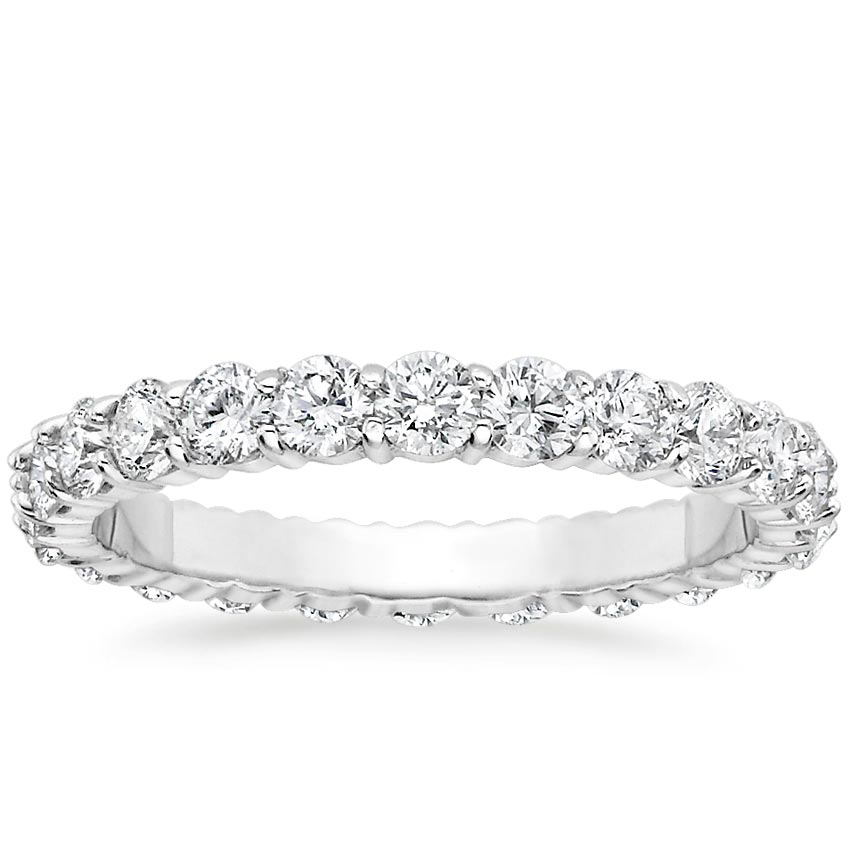 18K White Gold Luxe Eternity Shared Prong Diamond Ring (1 1/2 ct. tw.), top view