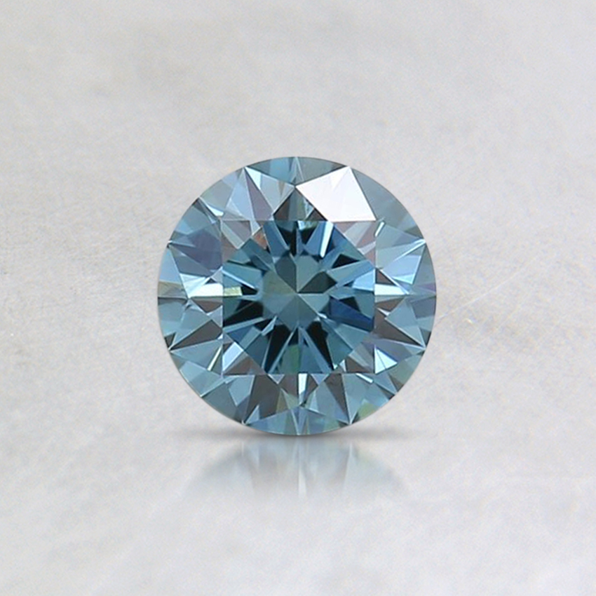 0.40 Ct. Fancy Intense Green Blue Round Lab Created Diamond