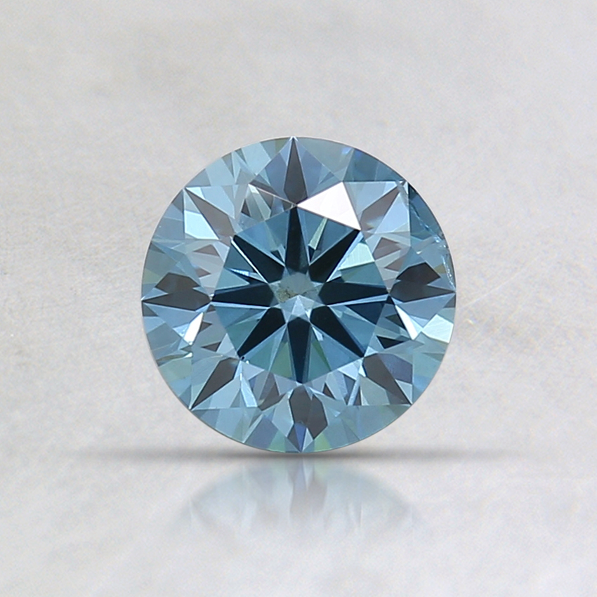 0.60 Ct. Fancy Deep Greenish Blue Round Lab Created Diamond