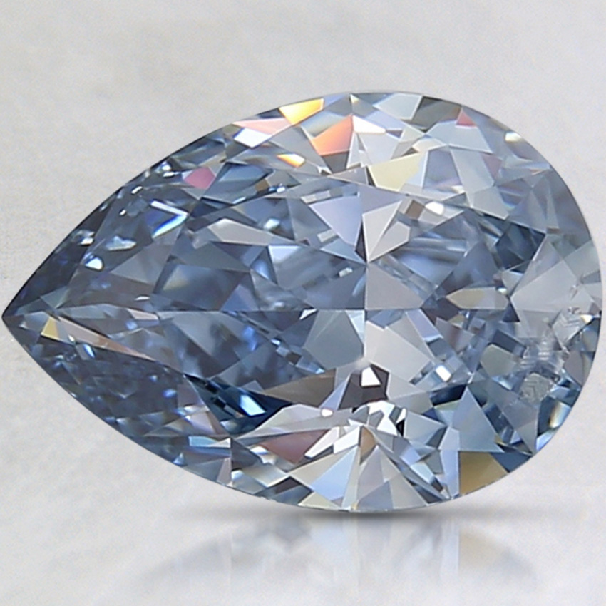 2.03 Ct. Fancy Intense Blue Pear Lab Created Diamond
